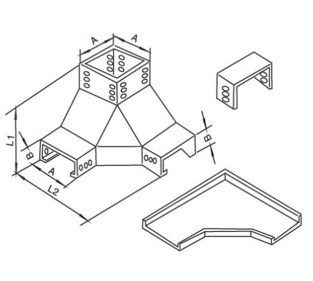 槽式上角垂直三通