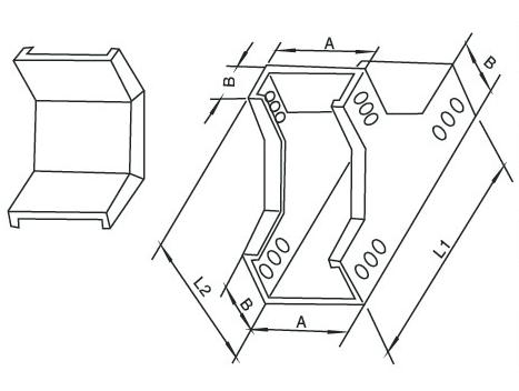 恩施槽式下垂直三通