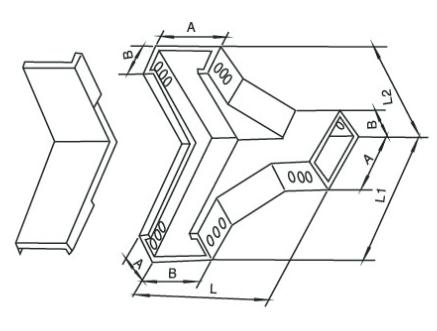 恩施槽式下角垂直三通